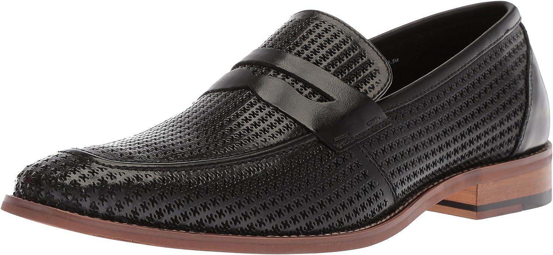 STACY ADAMS Men's Belfair Moe Toe Penny Slip-on Loafer