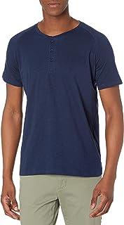Short-Sleeve 100% Organic Cotton Lightweight Slub Henley Shirt for Men