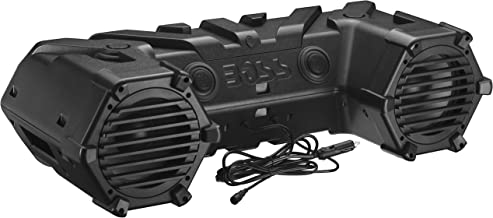 BOSS Audio Systems ATVB95LED All-Terrain Sound System - Weatherproof, 8 Inch Speakers, 1.5 Inch Tweeters, Built-in Amplifier, Bluetooth, LED Light Bar, Storage Compartment, ATV UTV 12 Volt Vehicles