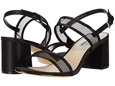 Nina Nelley (Black Luster Satin/Mesh) Women
