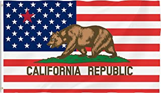 Bonsai Tree California Flag 3x5 Feet - Vivid Color and Double Sided - California Republic Flags Polyester with Brass Grommets American Flag Home Decorations
