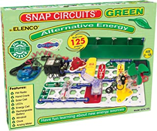 Snap Circuits Alternative Energy Green Electronics Exploration in Alternative Energy Kit   Over 125 STEM Projects   4-Colo...