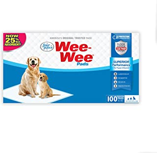 Four Paws Wee-Wee Dog Training Pads, 100-Pack Box