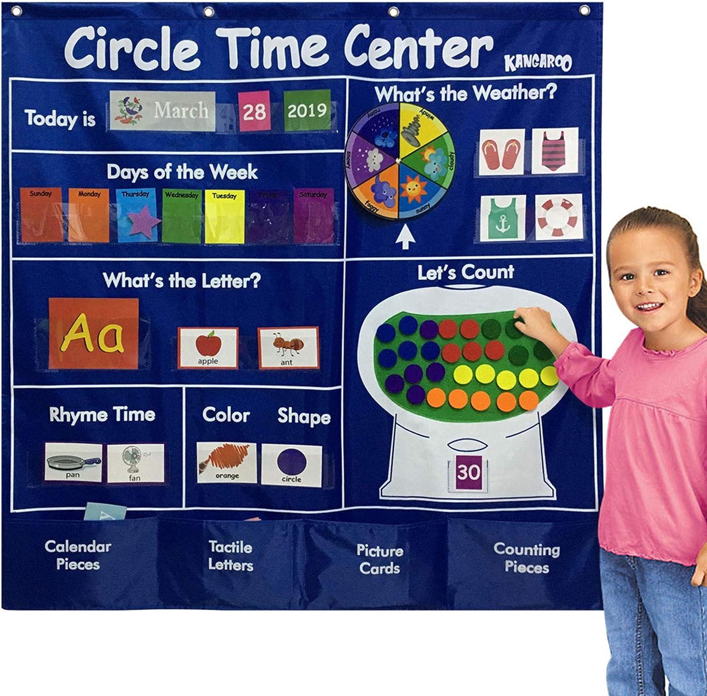 オープニング 大放出セール ストア Circle Time Center Pocket Chart Pock Calendar-Circle