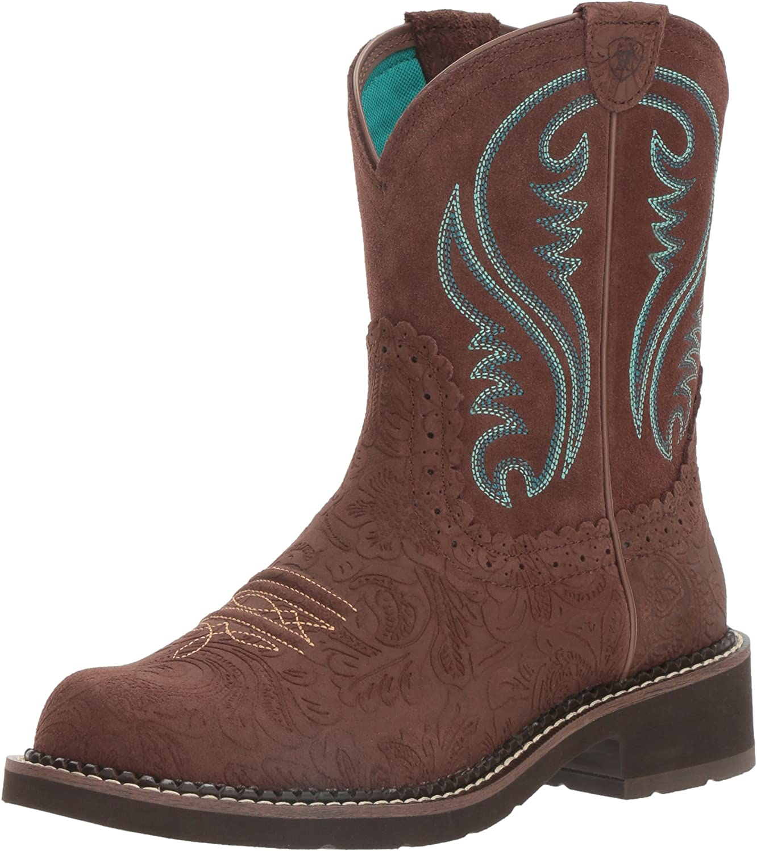 Ariat Women's Women's Fatbaby Heritage Western Cowboy Boot, Brown, 9 B US
