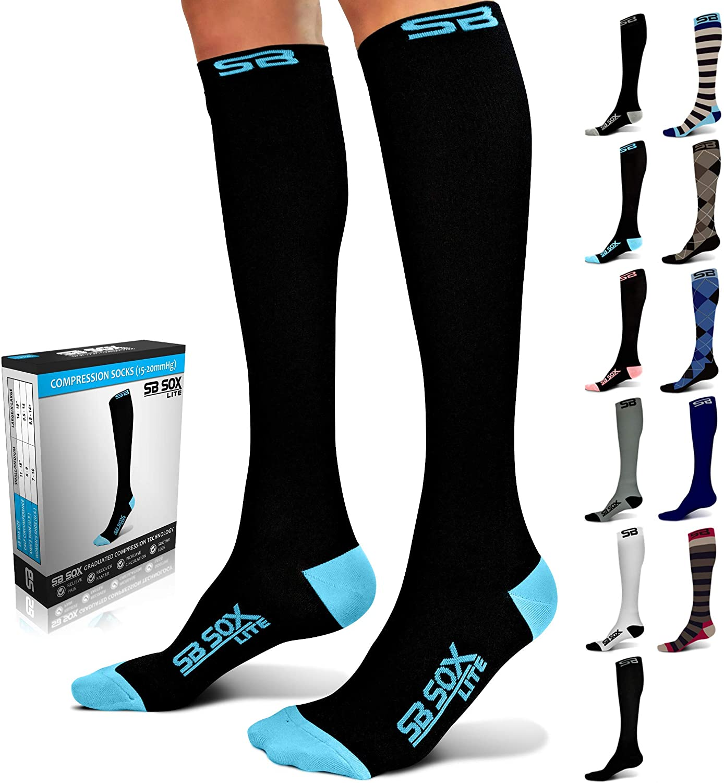 SB Bargain SOX Free Shipping Cheap Bargain Gift Lite Compression Socks Women Men – 15-20mmHg for
