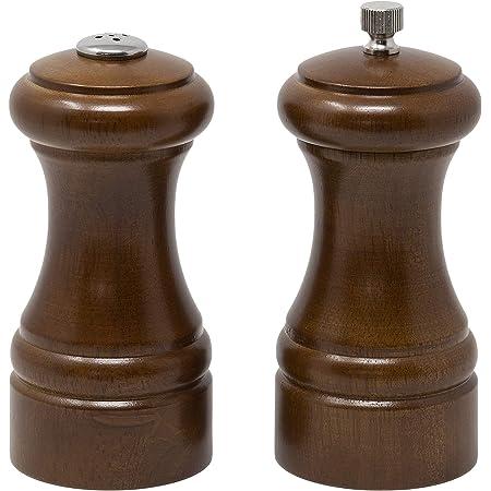Olde Thompson Statesman - Juego de molinillo de pimienta y salero de madera, 13.3 cm, Molino de pimienta y salero Statesman, Walnut, 13.33 cm, 1