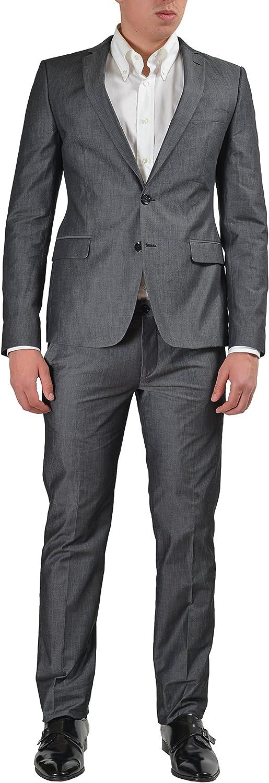 Versace Jeans Men's Gray Two Button Suit US 38 IT 48