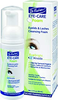 Dr. Fischer Eye-Care Foam | An Eyelid and Lashes Cleanser to Calm, Ease, Refresh and Moisturize the Skin Around the Eyes | Preservative and Paraben Free | Gentle, Tearless, Cleansing Formula - 1.7 fl.