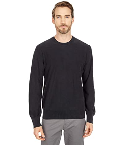 Lucky Brand Washed Welterweight Sweater (Jet Black) Men