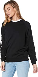 Calvin Klein Jeans Women's Institutional Raglan Zip Up Sweatshirt, Ck Black, M