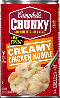 Campbell's Chunky Creamy Chicken Noodle Soup, 18.8 oz. Can