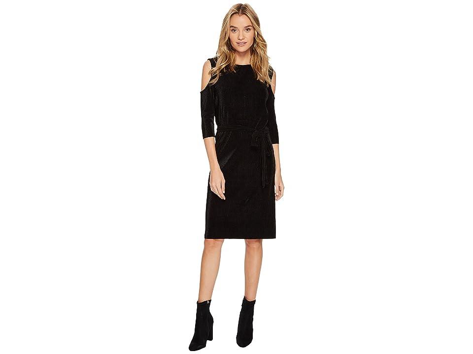 Bishop + Young Sasha Cold Shoulder Dress (Black) Women