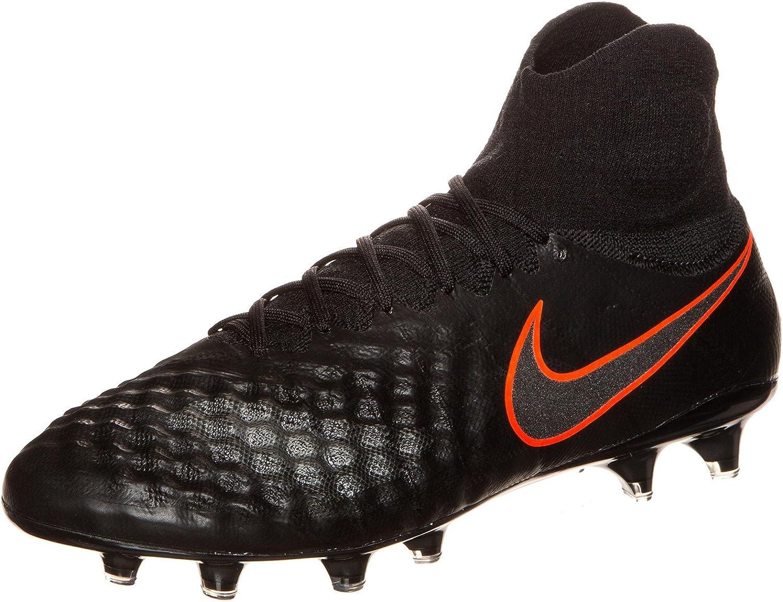 Nike Mens Magista Obra Ii Fg Black Black Total Crimson Soccer shoes