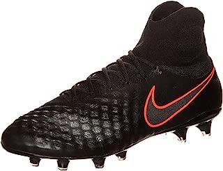Nike Mens Magista Obra Ii Fg Black/Black/Total Crimson Soccer Shoes