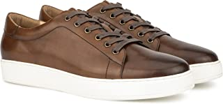 Vintage Foundry Co. Men's Baxter Low Top Casual Walking Fashion Leather Shoe Sneaker, Round Toe, Wedged Rubber Outsole