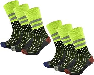 Pack de 6 calcetines de trabajo de alta visibilidad para hombre