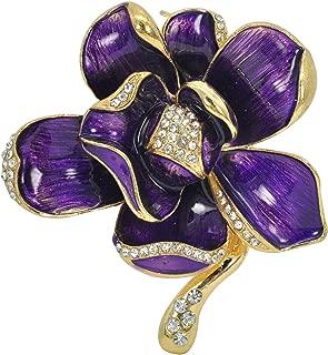 african violet brooch