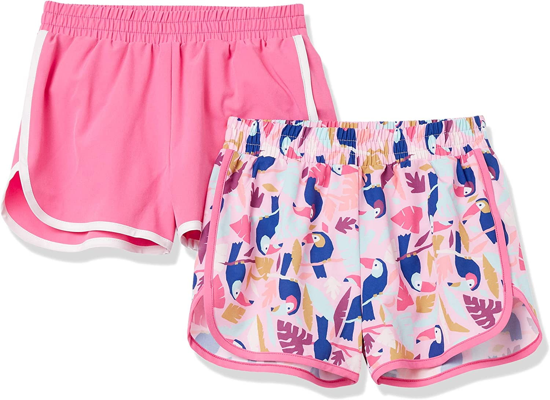 Essentials Girls' 2-Pack Active Running Short: Clothing