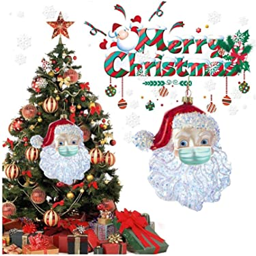 2020 Quarantine Santa Claus Ornaments for Christmas, Xmas Tree Hanging Ornament Decoration, Christmas Decor Pendant for Home, Personal - Commemoration Gift for 2020 Bring Good Luck (Red)