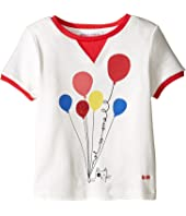 Sonia Rykiel Kids - Short Sleeve Balloon Graphic T-Shirt w/ Contrast Trim (Toddler/Little Kids)