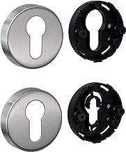 JUVA Cilinderrozet roestvrij staal mat deurrozet rond - H8250 | PZ-cilinder binnendeur incl. bevestigingsmateriaal | sleut...