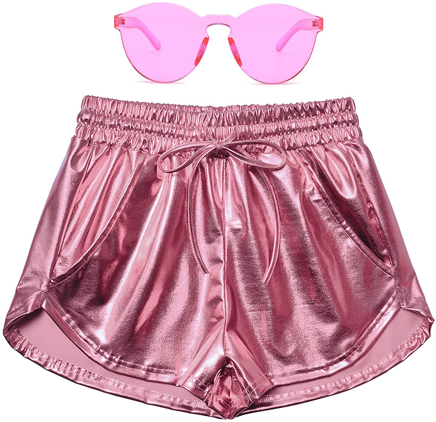 Perfashion Women's Daily 5 ☆ very popular bargain sale Metallic Shorts Summer Hot Shi Outfit Sparkly