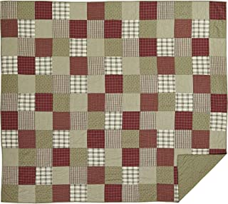 VHC Brands Brick Red Farmhouse Classic Country Bedding Prairie Winds Quilt, King