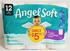 Angel Soft Fresh Lavender Scent 12 Big Rolls (1 Pack)