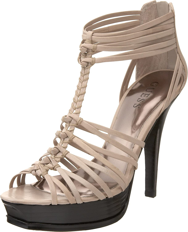GUESS Women's Toggle Platform Sandal White