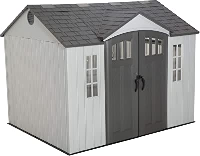 LIFETIME 60243 10 x 8 Ft. Outdoor Storage Shed, Gray