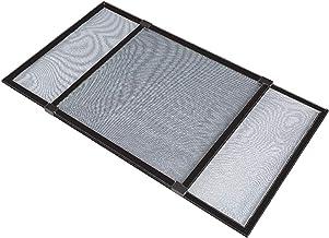 PALMAT® Vliegenhor voor Ramen met Rolluikgeleiders – Insecten Raamhor - 75 x 50 cm – Verlengbaar tot 142 cm - Zwart (Zwart)