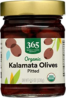 365 by Whole Foods Market, Organic Olives, Kalamata - Pitted, DR WT 4.6 Ounce