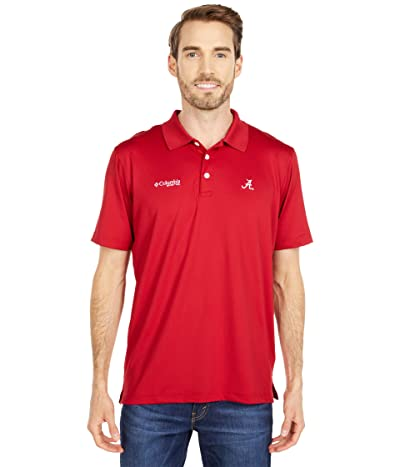 Columbia College Alabama Crimson Tide Skiff Casttm Polo (Red Velvet) Men
