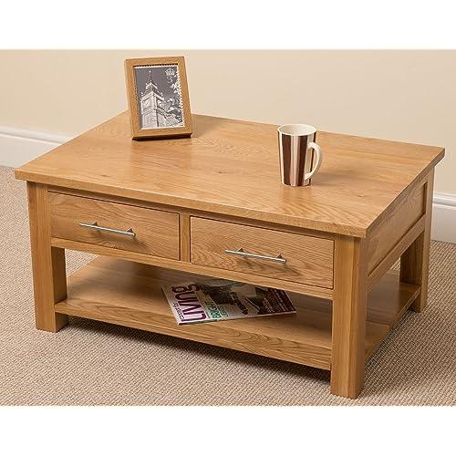 Solid Oak Coffee Tables Amazon Co Uk