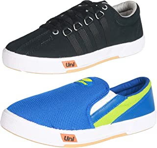 Unistar Men Canvas Shoes Combos (Pack of 2)