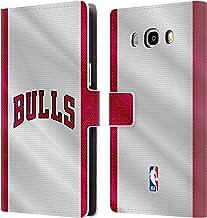 Head Case Designs Oficial NBA Jersey Chicago Bulls Carcasa de Cuero Tipo Libro Compatible con Samsung Galaxy J5 (2016)