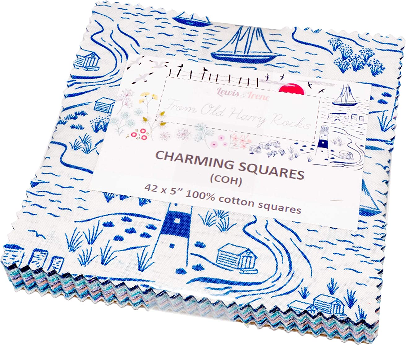 from Old Harry Rocks Charming Squares 42 5-inch Squares Charm Pack Lewis & Irene