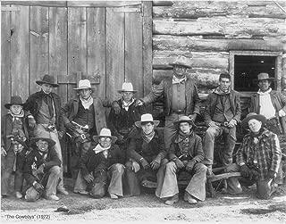 Gatsbe Exchange John Wayne - with Cast of The Cowboys Vintage Old Photo 8 x 10 Tin Sign