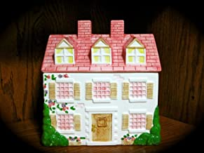Sigma the Tastesetter Ceramic Cookie Jar House with Pink Roof
