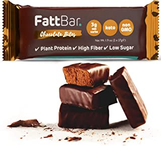 FattBar Keto Super Fats Chocolate Bites (3-Pack) | Natural and Delicious Keto Snacks | Low Net Carb, High Fiber, Low Sugar...