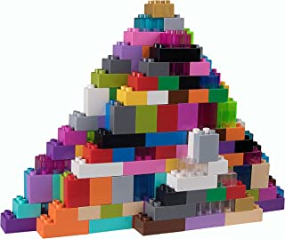 Strictly Briks - Big Briks Set - 108 Pieces - 24 Rainbow Colors - Compatible with All Major Brands - Large Building Blocks for Ages 3 and Up