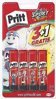 Pritt Barra Adhesiva, pegamento infantil seguro para niños para manualidades, cola universal de adhesión fuerte para estuc...