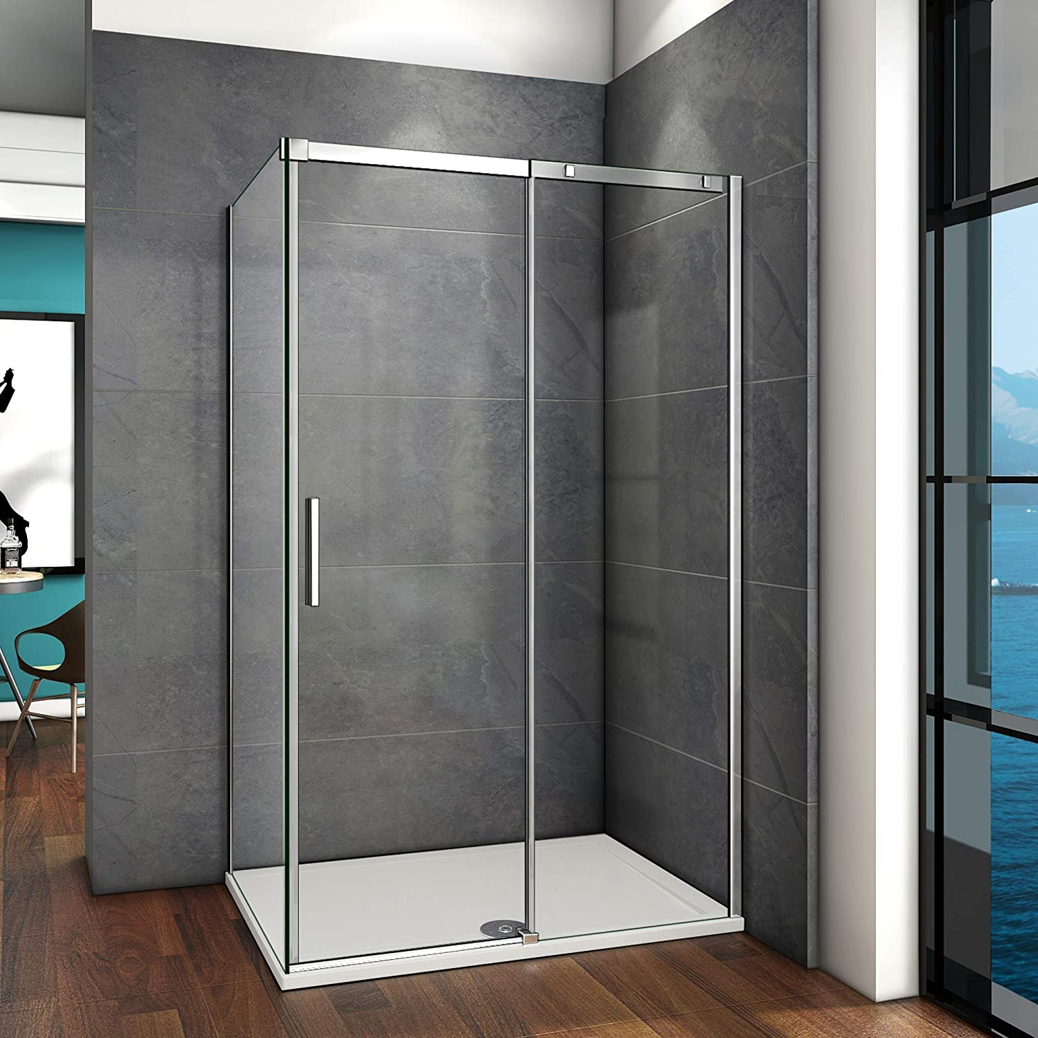 1000x800mm Sliding Shower Door Screen 6mm Glass Shower Cubicle Enclosure