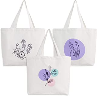Multi-Purpose Canvas Tote Bag - Reusable Shopping Bags - 12oz Cotton Canvas Fabric Carries Up to 10kg - Versatile and Heav...