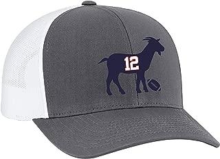 Patriots #12 G.O.A.T Trucker Mesh Snapback Hat
