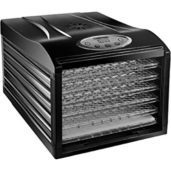 Chefman Dehydrator Machine Professional Electric Multi-Tier Food Preserver, Meat or Beef Jerky Maker, Fruit & Vegetable Dryer with 6 Slide Out Trays & Transparent Door, 6 Tray, Black