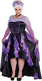 SUIT YOURSELF The Little Mermaid Ursula Costume Couture for Women, Plus Size, Includes a Dress, a Crown, and a Necklace