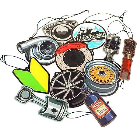 Vmg Store 2er Set Tuning Lufterfrischer Duftbaum Fürs Auto Air Freshener Design Duft Anhänger 2x Cvt Felge Auto