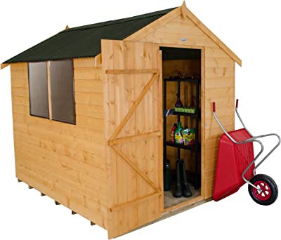 Bosque sda68onhd 8 x 6 ft Dip tratada cobertizo caseta de jardín de Seguridad – Otoño